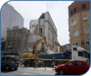 DERRUMBES DE EDIFICIOS EN MADRID